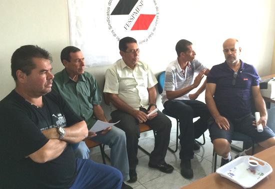 Vigilantes reunidos na sede do Sindicato